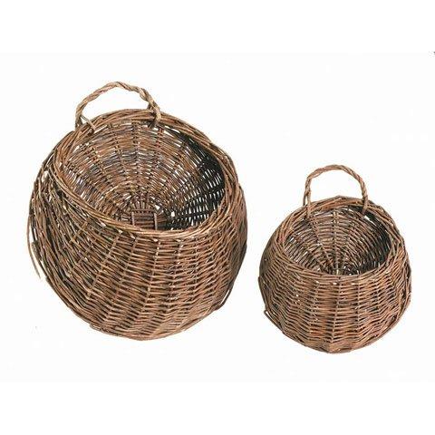 Bulk Buy: Darice DIY Crafts Willow Wall Basket Brown 8 x 13 inches (6-Pack) 2832-88