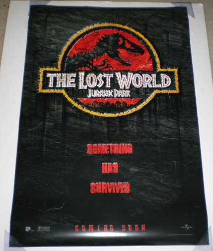 JURASSIC PARK THE LOST WORLD MOVIE POSTER 2 Sided ORIGINAL A