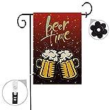 Bonsai Tree beer summer burlap garden flag Banner decorative outdoor Double Sided yard flag 12 x 18 prime