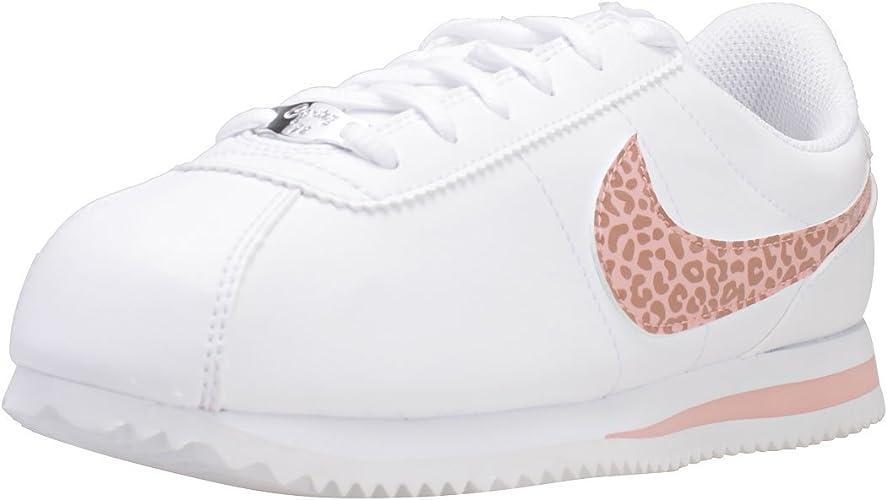 Nike Cortez Basic SL (GS), Zapatillas de Running para Mujer, Multicolor  (White/Coral Stardust 102), 38.5 EU