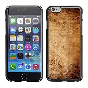PC/Aluminum Funda Carcasa protectora para Apple Iphone 6 Wallpaper Ancient Old Paper Canvas Art / JUSTGO PHONE PROTECTOR