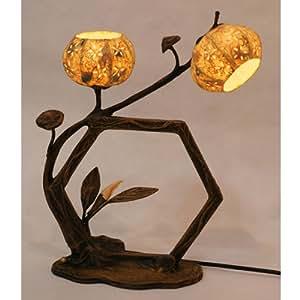 Lámpara de Papel de Mora Arroz Bola Mano Diseño Hexagonal de Flores Arte Sombrilla Globo Redondo Asia Oriental Mesilla de Noche Decoración Doméstica de Dormitorio Original Florida