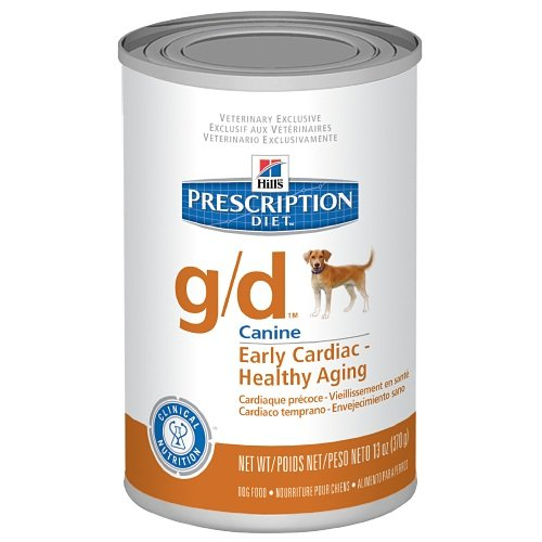 Hill's Prescription Diet g/d Early Cardiac Healthy Aging Dog Food 12 x 13oz cans by Hill's Pet Nutrition