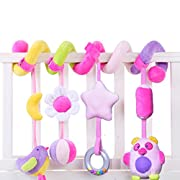 SKK Baby Infant Crib Toy Stroller Activity Spiral and Travel Toy Purple