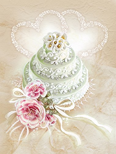 Caroline's Treasures APH3648CHF Wedding Cake Flag Canvas House, Large, Multicolor