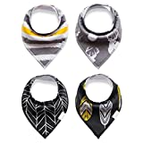 Baby Bandana Drool and Dribble Bibs for Boys and for Girls - (Set of 4, Gift Set) - Best for Babies Drooling, Teething and Feeding (design 6)