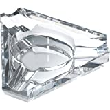 Jupiter Triangular Three Cigar Lip Crystal Ashtray (Set of 3)