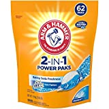Arm & Hammer 2-IN-1 Laundry Detergent Power Paks, 62 ct