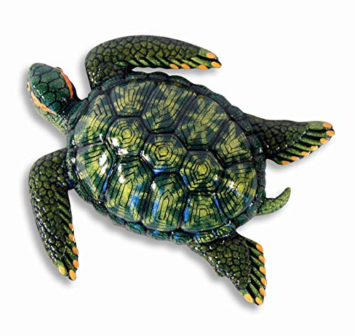(LX Handpainted Green Tropical Sea Turtle Beach Tiki Bar Wall Mount Decor Plaque Kid Decor 8