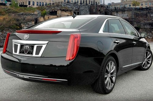 E&G CLASSIC 13 CADILLAC XTS CLASSIC REAR TAG SURROUND WITH MESH BLACK ICE