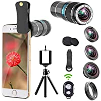 iPhone Camera Lens, 12x Telephoto Lens + 0.65x Wide Angle...