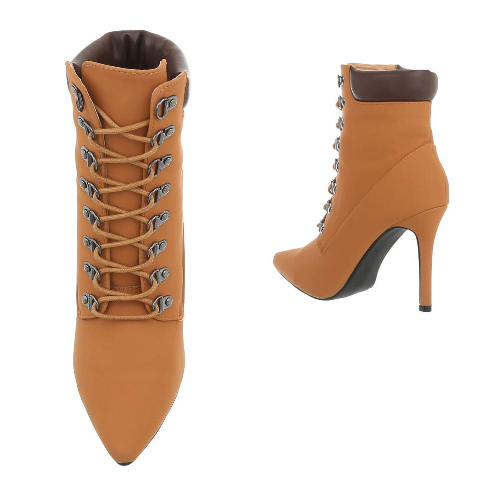 Damen Business Stiefeletten Kurzschaft Stiletto Stiefel Fashion Spitze High Heels Heels Heels Stiefelies 36-41 473fc8
