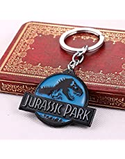 XYXK Keychains Jurassic Park Dinosaur Keychain Can Drop-Shipping Metal Key Rings For Gift Chaveiro Key Chain Jewelry For Cars Ys10858