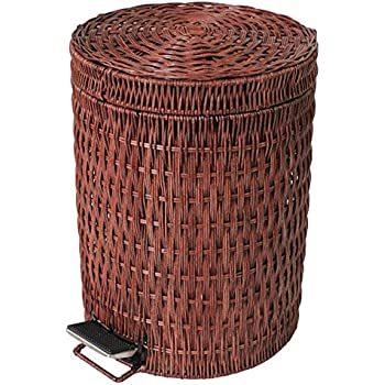 Amazon Com Step Trash Can Rattan Amp Wicker Waste Bins With