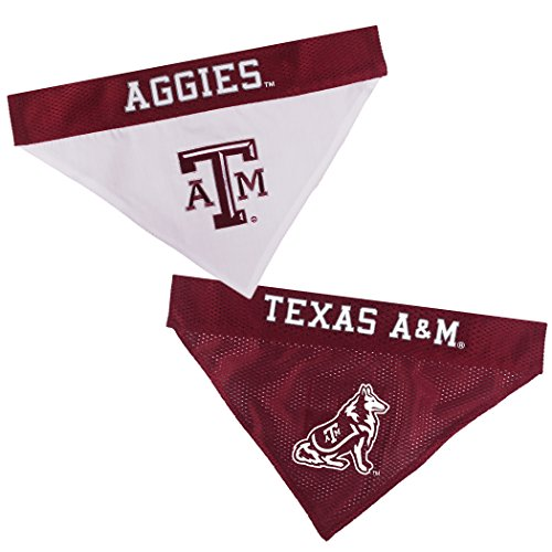 Pets First Collegiate Pet Accessories, Reversible Bandana, Texas A&M Aggies, Large/X-Large -