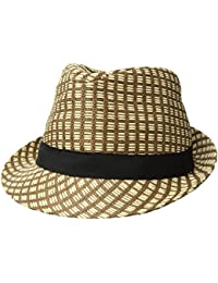 6bba57d2532f5 Unisex Summer Cool Woven Straw Fedora Hat   Stylish Hat Band