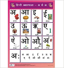 Amazon In Buy Hindi Alphabet Charts Vowels For Kids Hindi Swar