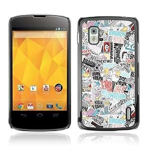 YOYOSHOP [Cool Psychedelic Colorful Pattern] LG Google Nexus 4 Case