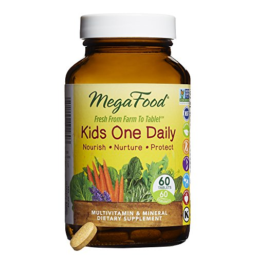MegaFood - Kid's One Daily Multivitamin & Mineral Dietary Supplement 60 Tablets (Supplement 100 Multi Tablets Mineral)