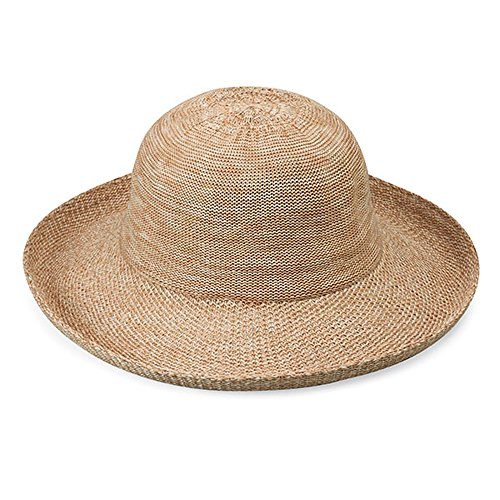 Wallaroo Women's Petite Victoria Sun Hat - Stylish Yet Packable, Mixed Camel