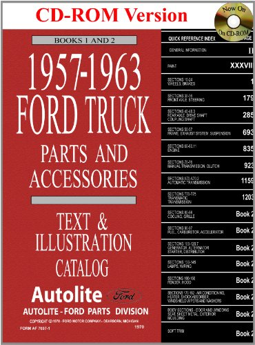 1957-63 Ford Truck Master Parts and Accessory (Ford Truck Parts Catalog)