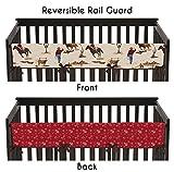 Sweet Jojo Designs Wild West Cowboy Western Long Front Rail Guard Baby Boy Teething Cover Protector Crib Wrap