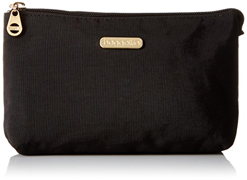 Baggallini Gold International Rome Case BLK Cosmetic Bag, Black, One Size