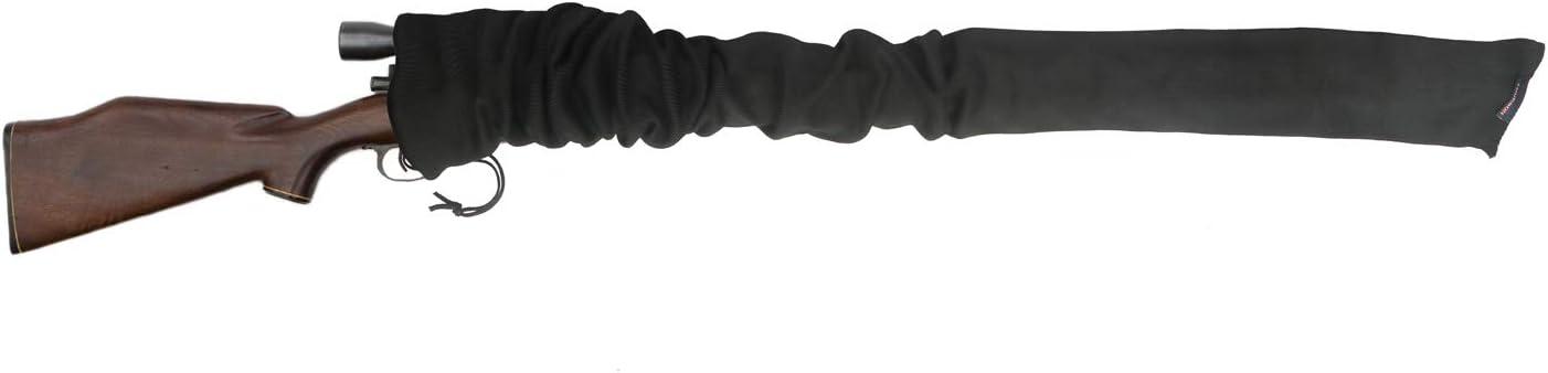 Funda tipo calcetín Tourbon para rifle o escopeta, funda tejida tratada con aceite de silicona, de 132cm