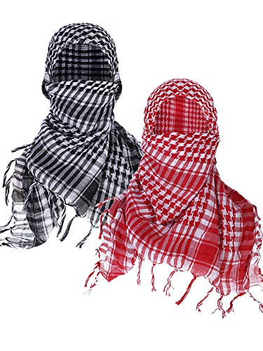eh Shemagh Arab Scarf Wrap Tactical Desert Scarf Cotton Head Wrap (Color Set 1) ()