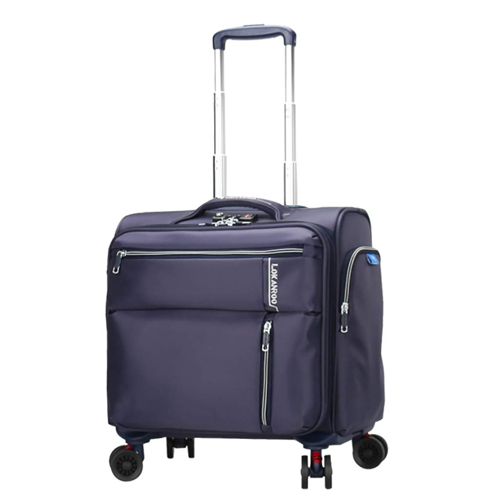 ローリングラップトップケース、ミニポータブルブリーフケースコンパクトオーバーナイトトラベルトートバッグ荷物ビジネストロリー2サイズ4色 B07KRX1SM1 Blue 41*19*39cm