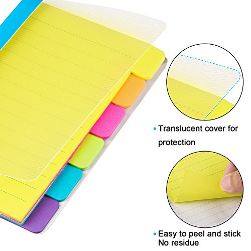 Fineliner 12 Colored Pens and Divider Sticky Notes 60 Ruled Notes, 4 x 6 inches, Sticky Journals Page tabs, Journaling Writing Note Taking, School & Office Supplies (2 Pack Notes+Pen) Photo #3