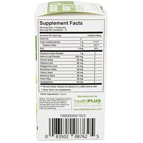 Health Plus Super Colon Cleanse Capsules 60 Count