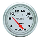 Auto Meter 4491 Ultra-Lite Electric Voltmeter Gauge