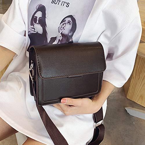 Utflykt shoppingväskor axelväskor dam handväskor flip dam axelväskor (färg: Brun) Svart