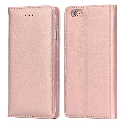 iPhone 6S Plus Leather Case, IPHOX Premium Folio Leather Wallet Case with [Kickstand] [Card Slots] [Magnetic Closure] [Hand Strap] Flip Notebook Cover Case for iPhone 6/6S Plus E ()