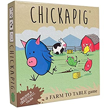 Chickapig Board Game - A Strategic Board Game where Chicken-Pig Hybrids attempt to reach their Goal while Dodging Opponents, Hay Bales, and an Ever-Menacing Pooping Cow.