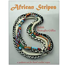 African Stripes: a pattern set for bead crochet ropes