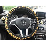 Zadin Sunflower Steering Wheel Cover | Cute and Fashionable Sunflower Steering Wheel Cover, Universal Steering Wheel Cover, Sunflower car Accessories (Sunflower)