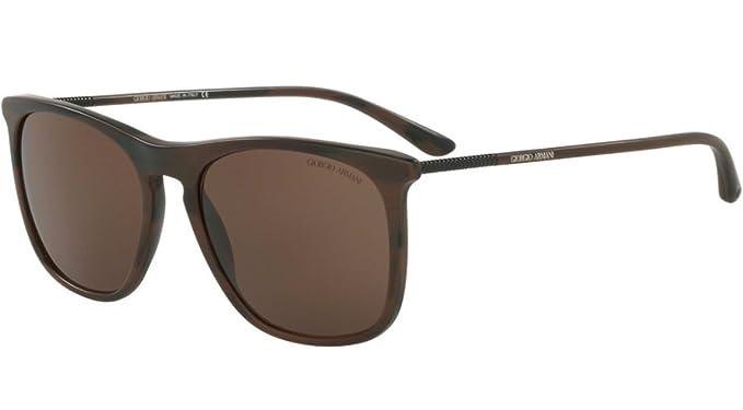 0e918021ab5 Image Unavailable. Image not available for. Color  Giorgio Armani AR 8076 -  549573 Sunglasses Dark Brown  ...