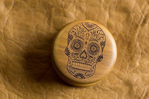 Wooden-weed-grinder-laser-engraved-grinder-Wooden-herb-grinder-Custom-laser-engraved-personalised-grinder-sugar-skull