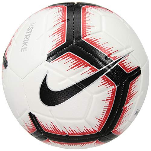 (Nike 2018-2019 Strike Soccer Ball (White/Bright Crimson) (5))