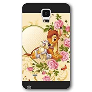 Customized Black Frosted Disney Cartoon Movie Bambi Samsung Galaxy Note 4 Case