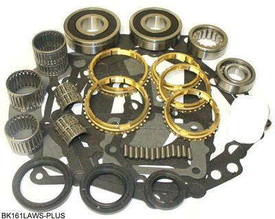 5 Speed Transmission Bearings - Jeep AX5 5 Speed Transmission Bearing Kit with Synchro Rings, BK161LAWS-PLUS