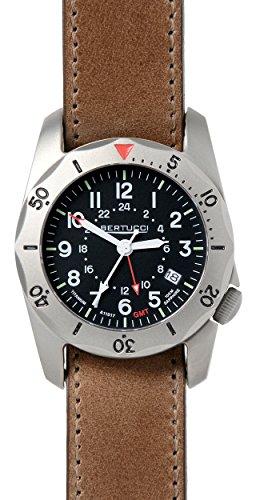 Bertucci 12120 A-2TR Vintage GMT Men's Watch Brown 40mm Titanium Case