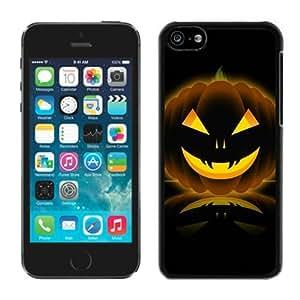 Customized Portfolio Iphone 5C TPU Rubber Protective Skin Halloween Pumpkin Black iPhone 5C Case 1