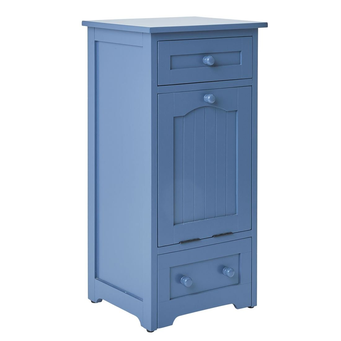 BrylaneHome Pet Food Storage Cabinet Blue