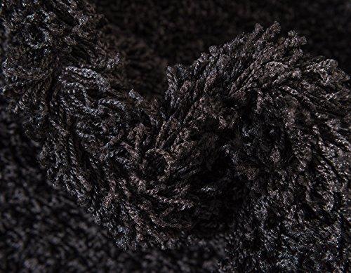 Unique Loom Solo Solid Shag Collection Modern Plush Jet Black Rectangle (5' x 8') by Unique Loom (Image #8)
