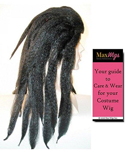 Tarzan Bargain Version Color Black - Lacey Wigs King Jungle Thick Dreadlock Wig Bundle With MaxWigs Costume Wig Care Guide]()