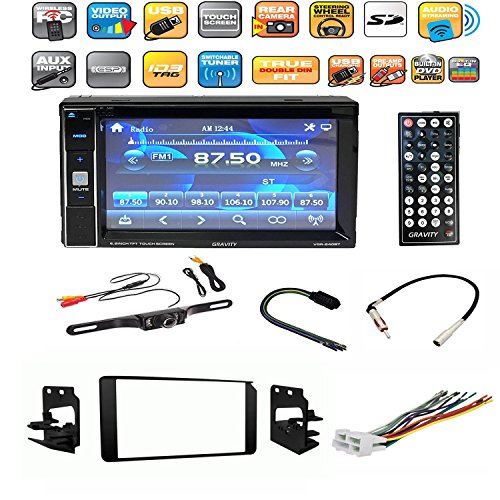 Chevrolet, GM SUV / Truck 1995-2002 6.5 inch Touch Screen Double DIN with Bluetooth/DVD/Radio/USB/TF/AUX Car Stereo Double Din Dash Kit Bezel Trim With Radio Wiring Harness and Antenna Connections Chevrolet Suburban Review