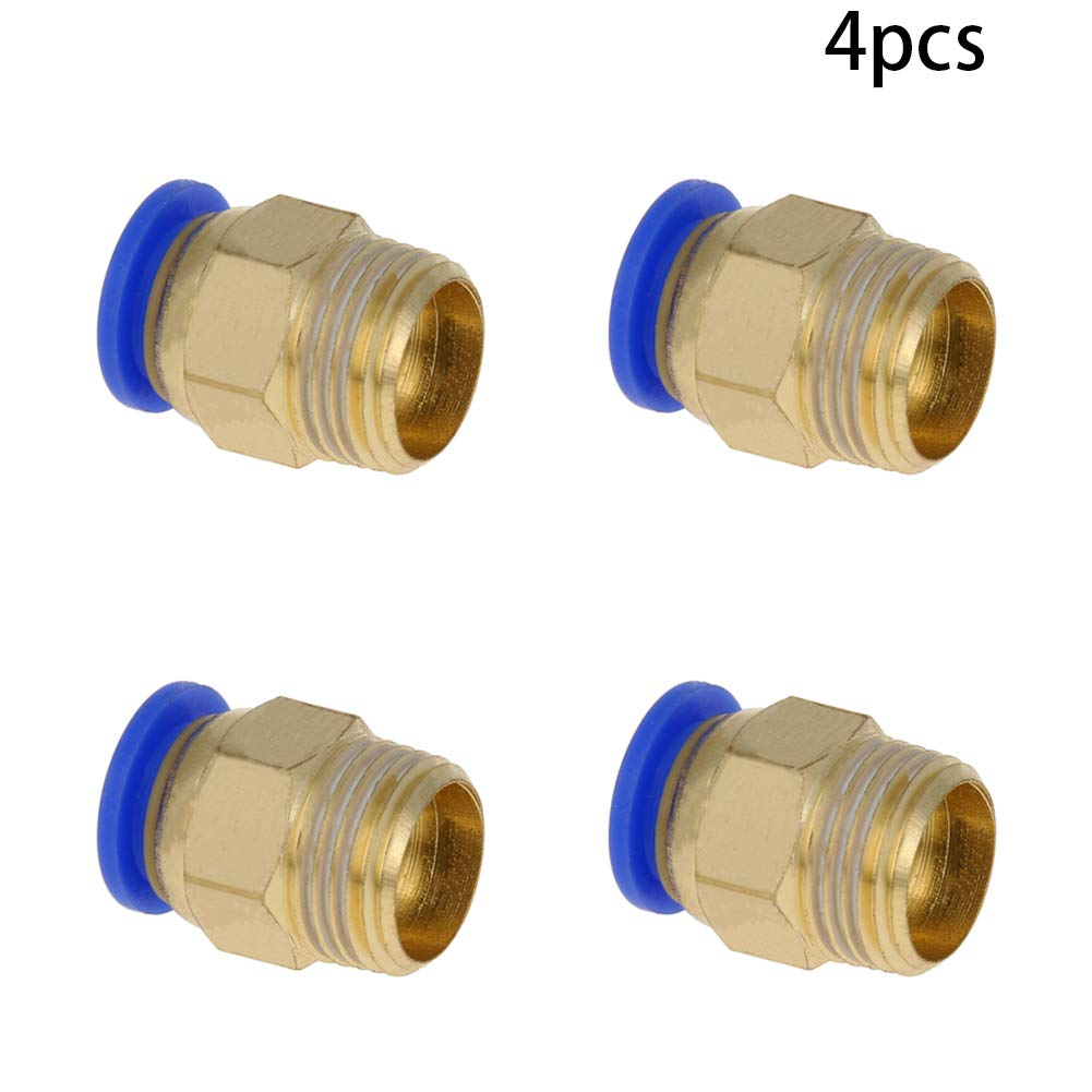 Othmro Straight Pneumatic Push to Quick Connect Fittings 10mm Tube OD x 16.5mm Male PC10-03 2pcs